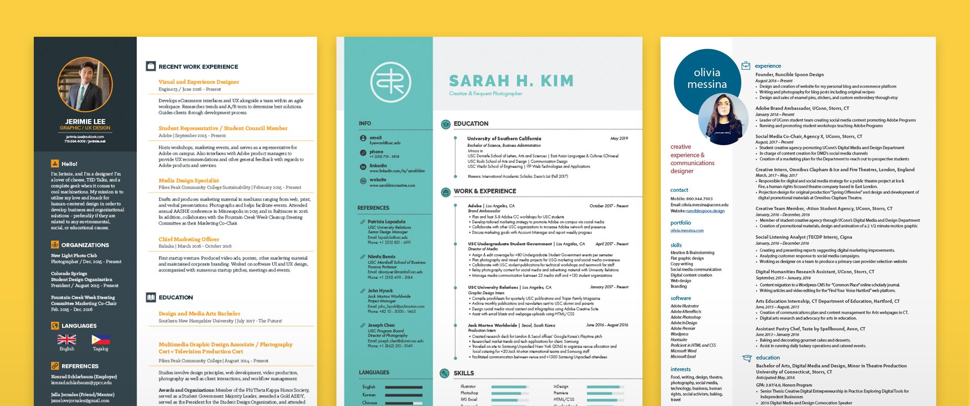 Resume Templates That Get The Job Done Make It With Adobe Creative Cloud How To Make Resume Resume Templates Resume Design Template