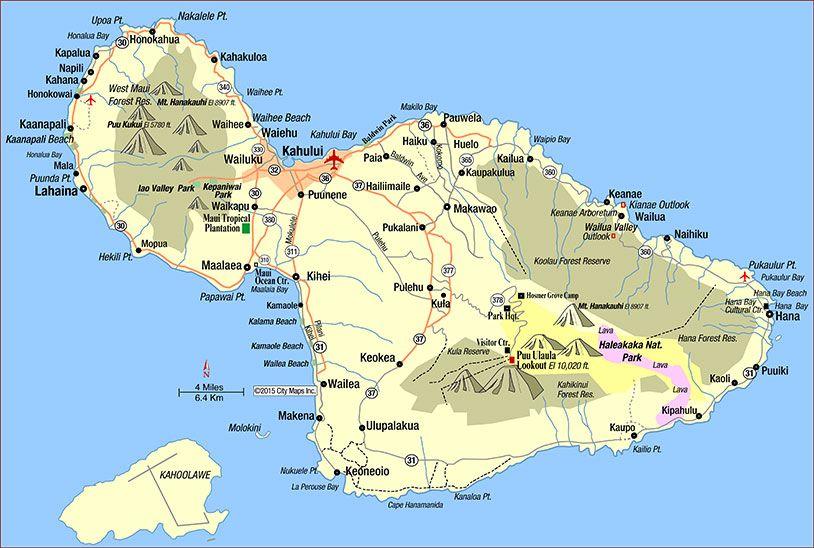 Kahului Hawaii Map.Road Map Of Maui Kahului Hawaii Paradise Found Maui Maui