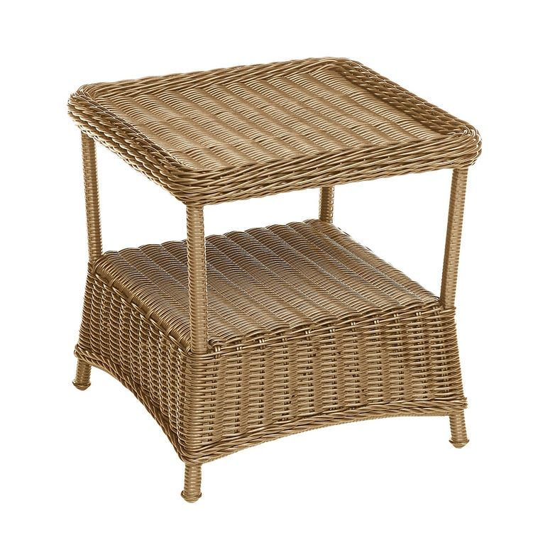 Sorrento Sand Wicker End Table In 2020 End Tables Wicker Table