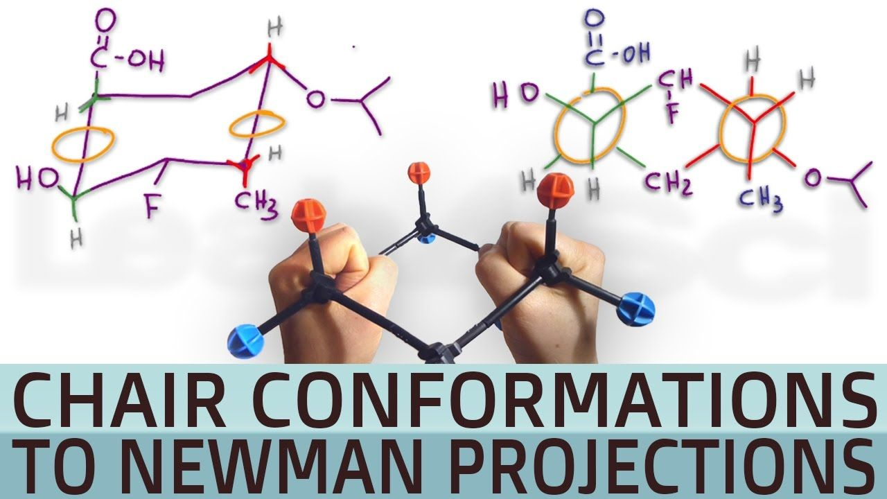 Cyclohexane Chair Conformation To Double Newman Projection Orgo Organic Chemistry Organic Chem Educational Websites