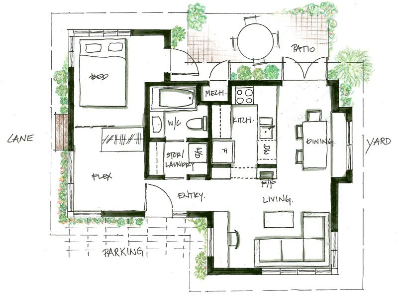 Smallworks Custom Small Homes Laneway Houses in Vancouver – Laneway House Floor Plans