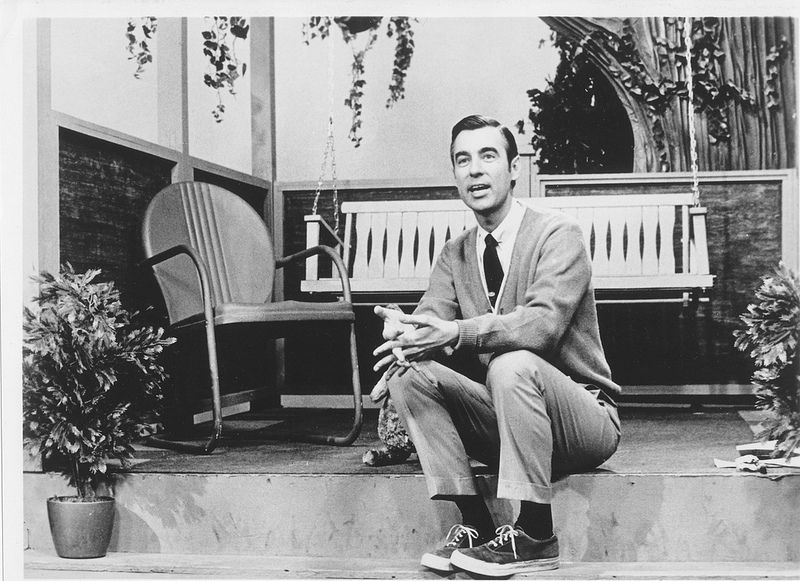 Fred On Front Porch Mr Rogers Mister Rogers Neighborhood Fred Rogers