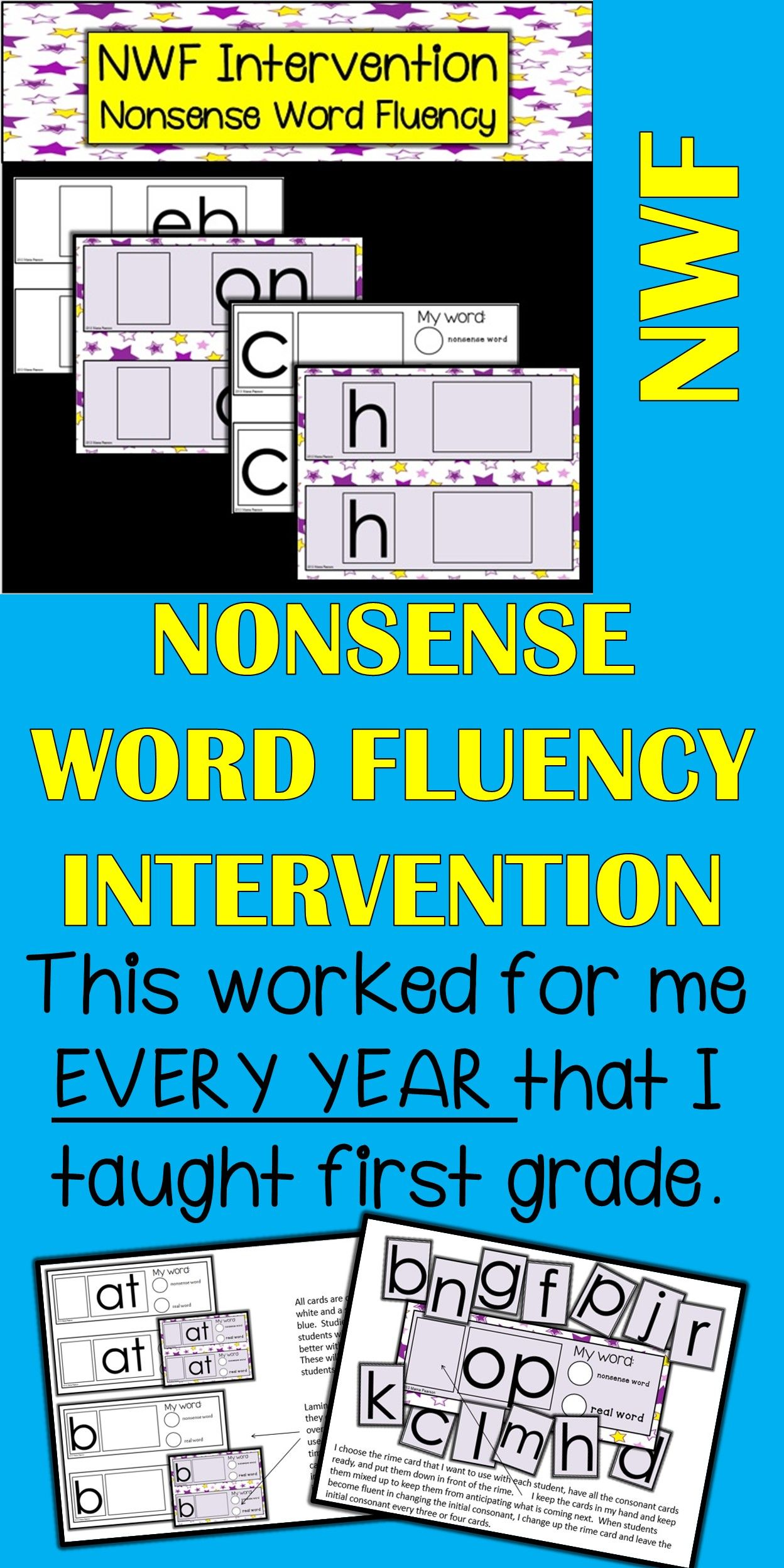 Nonsense Word Fluency (NWF) Intervention Work