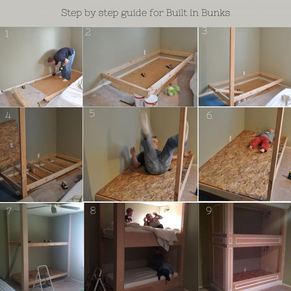 Built in loft bed ideas  MikaelMonsonBuiltinBunkGuide  How Tous  Pinterest  Bunk bed