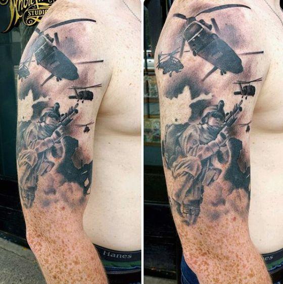 Top 101 Best Military Tattoo Ideas 2020 Inspiration Guide Military Tattoos Tattoos For Guys Army Tattoos