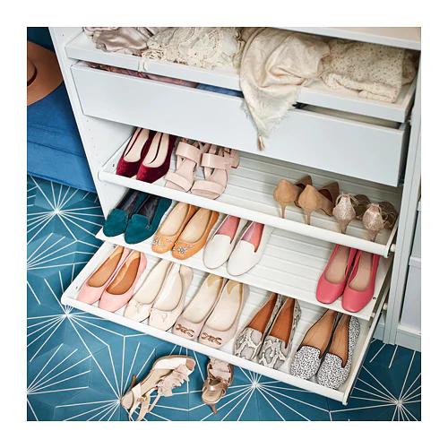 Komplement Wysuwana Polka Na Buty Bialy 75x58 Cm Kupuj Online Lub W Sklepie Ikea Shoe Shelf Closet Shoe Storage Shoe Shelves
