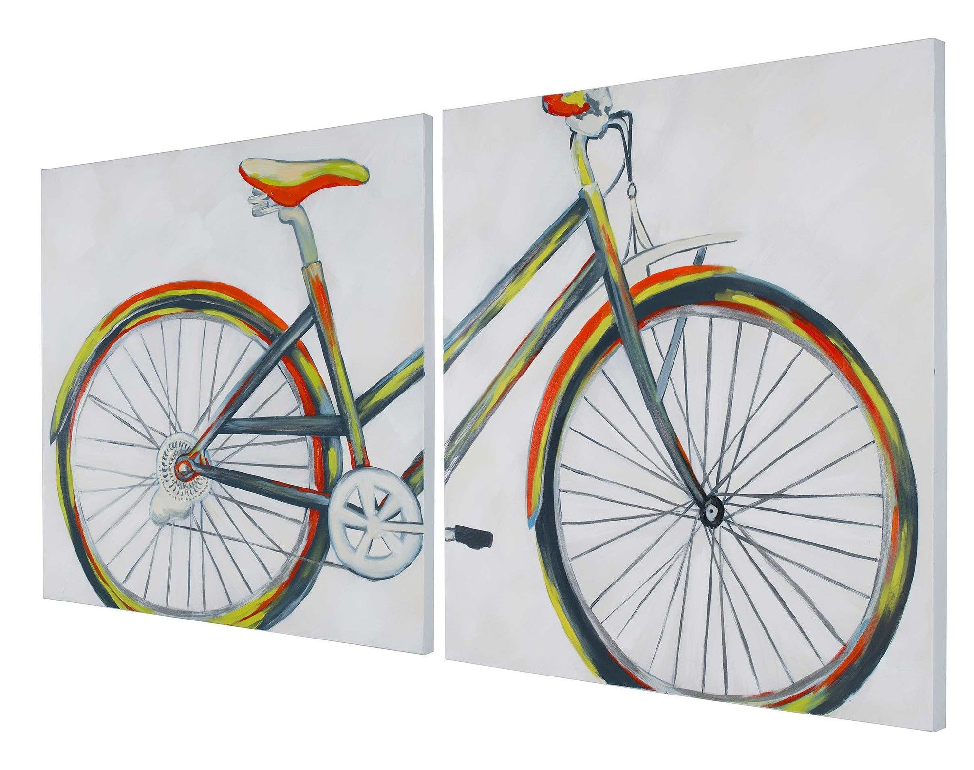 Bike With Flower Basket Acrylic Painting Tutorial By Angela