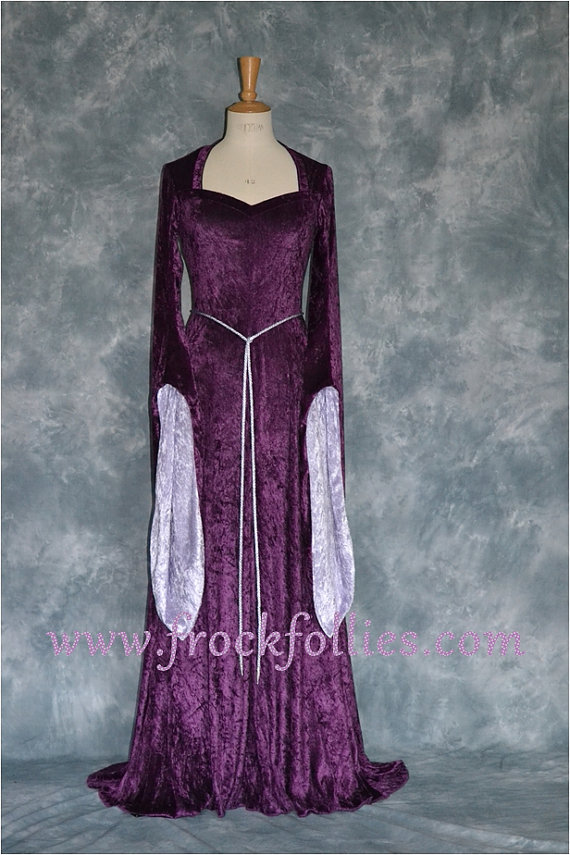 Medieval Dress, Pagan Dress, Elvish Dress, Pre-Raphaelite Dress ...