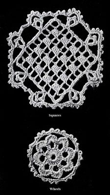 Mosaic Lace Bedspread Pattern chart a