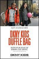 cool 4 September 2012 onwards: FREE DKNY Kids Duffle Bag at Parkson