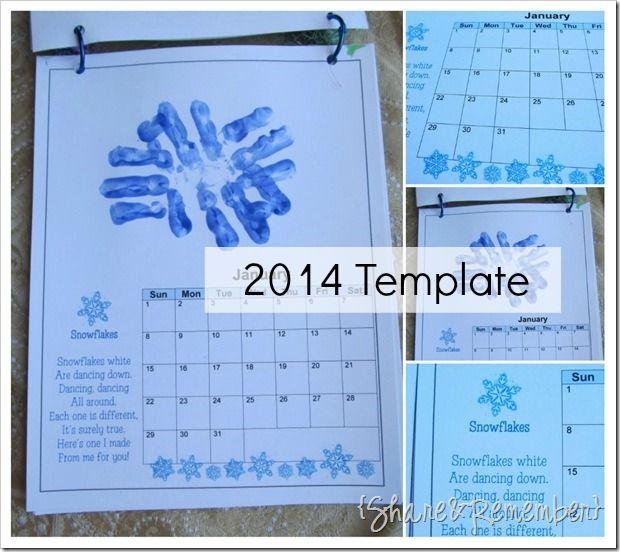 2014 Handprint Calendar Calendar ideas and Craft