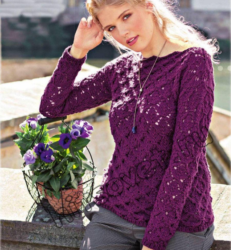 свитер вязаный крючком фото и схема где малыш может