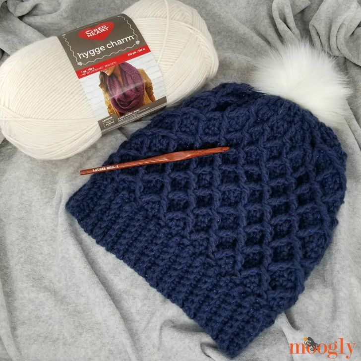 Diamond Crochet Hat - Free Pattern on Moogly!