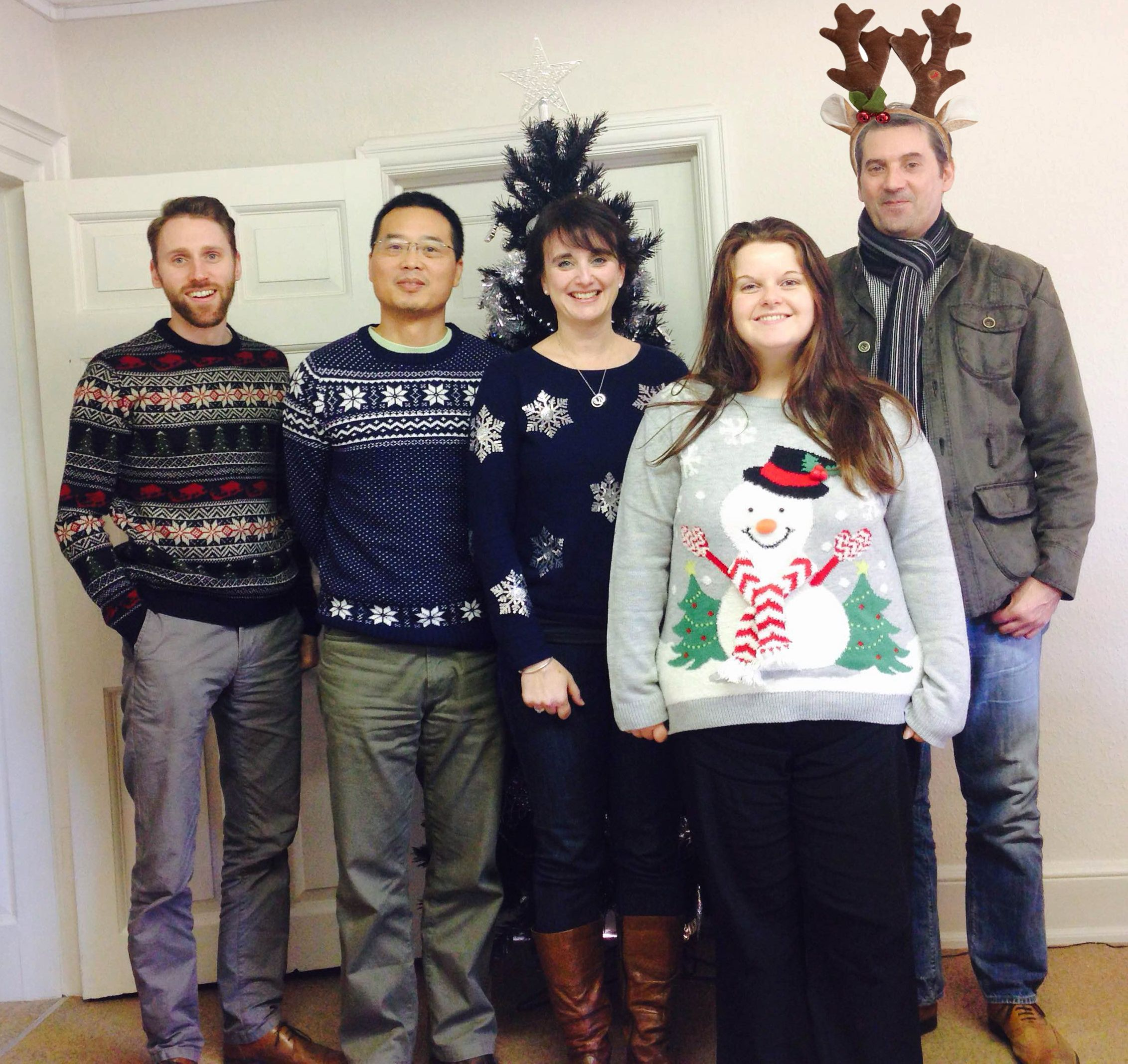 Who gets your vote for the most festive team member today?