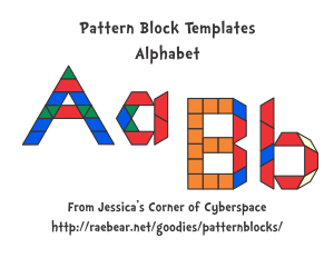 Printable designs for pattern blocks featuring letters of the printable designs for pattern blocks featuring letters of the alphabet in upper and lowercase spiritdancerdesigns Gallery