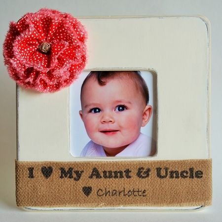 Aunt & Uncle Picture Frame Niece or Nephew Aunt & Uncle / Baby ...