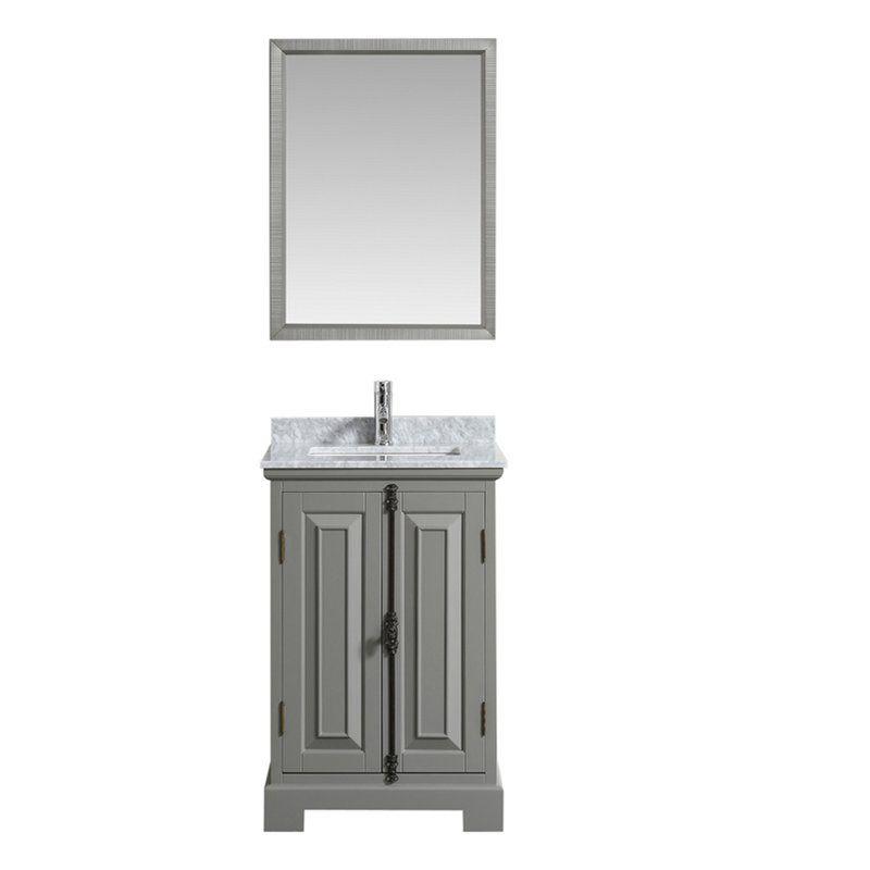 Ophelia Co Corbin 24 Single Bathroom Vanity Set With Mirror Wayfair Bathroom Vanity Vanity Set With Mirror Vanity