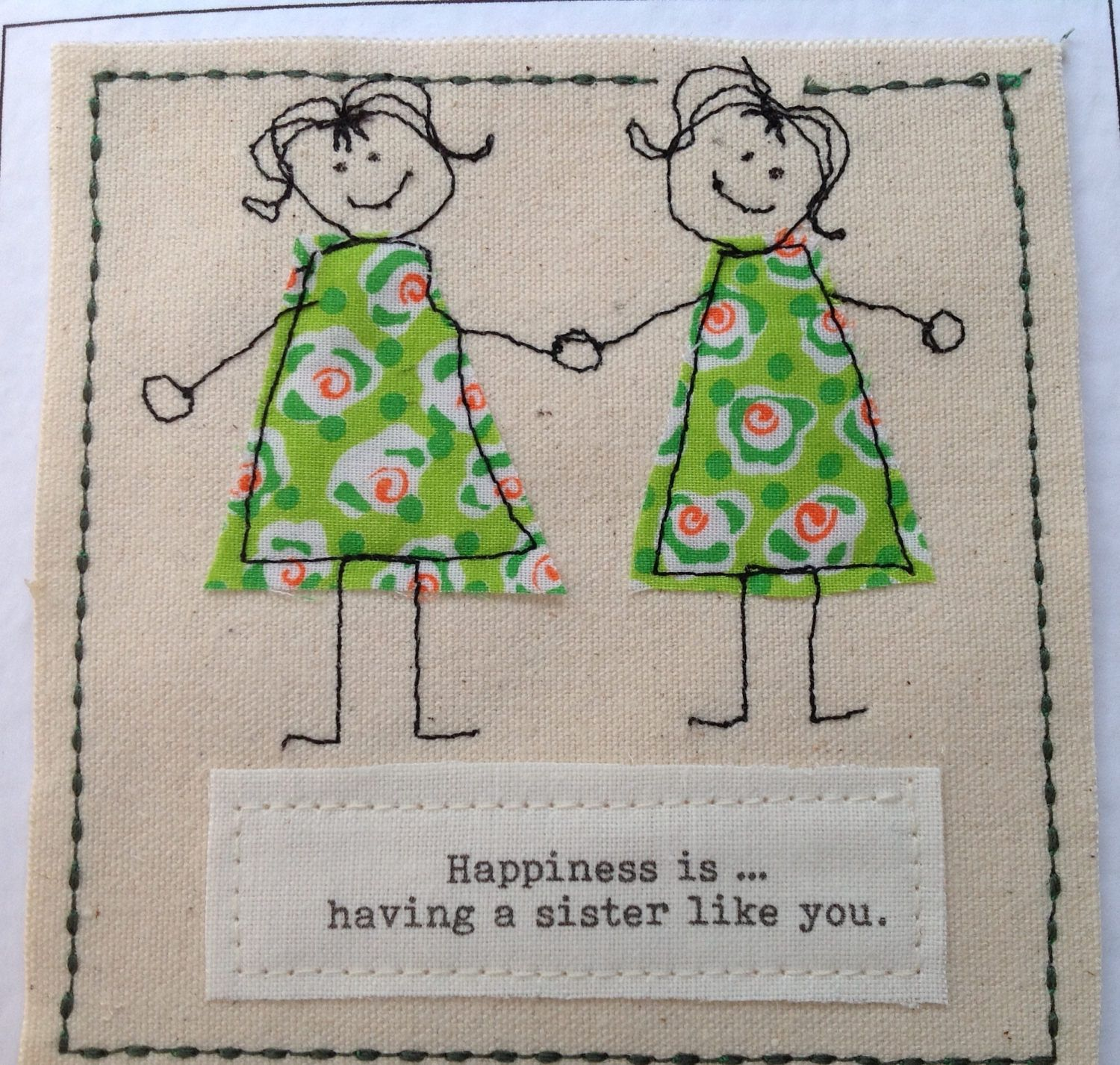 Unique Sister Birthday Card Get Well Thank You Twin Personalised With Your Words Printed Top Of The By