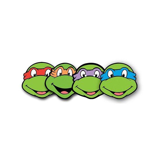 set van 4 ninja turtles maskers kartonnen maskers van de 4 ninja rh pinterest ca ninja turtle face clipart