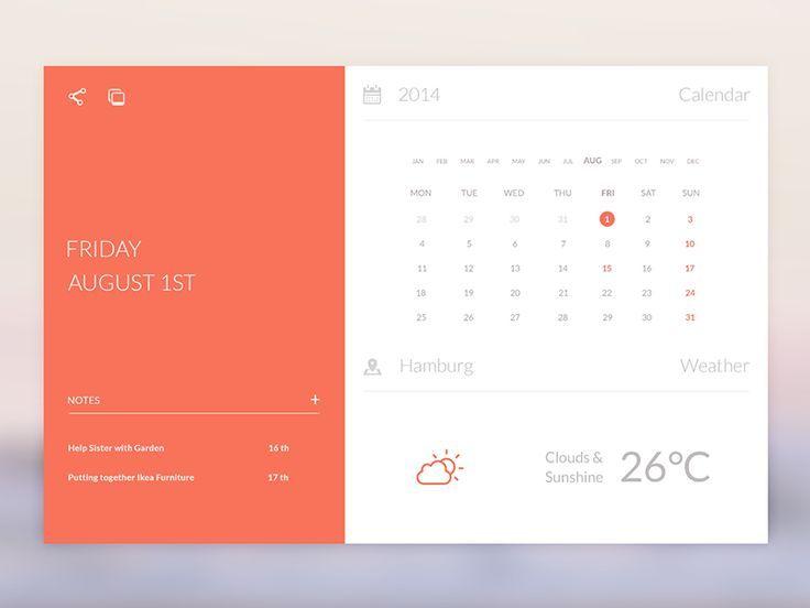 Calendar Widget Mobile Pinterest