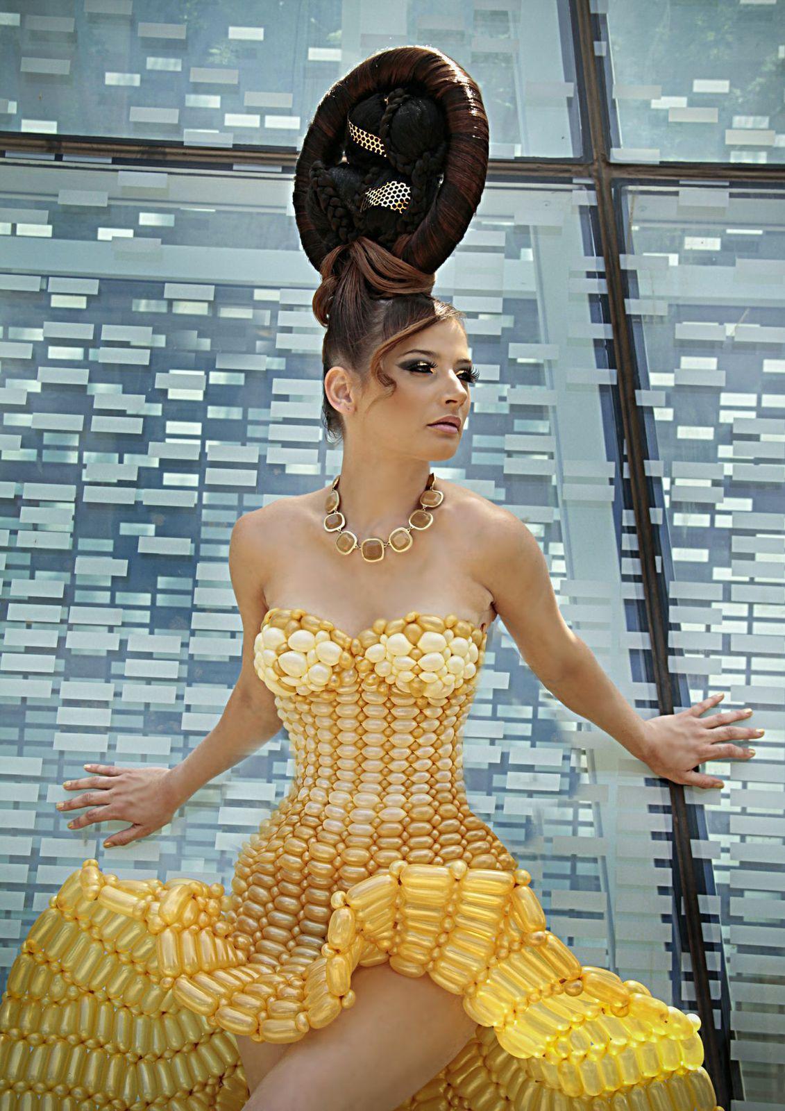 Balloon Dress Model - Brittany Boysel, Hair/MU - Juan Santos, Photographer - Michelle Engberg