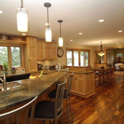 Dark Walnut Floors With Light Oak Cabinets Google Search