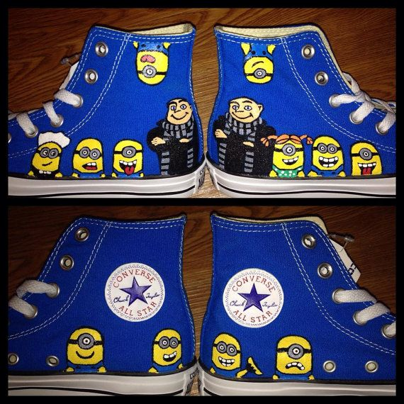 Gru Minions Hand Painted Adult Custom by CandysCustomPaints
