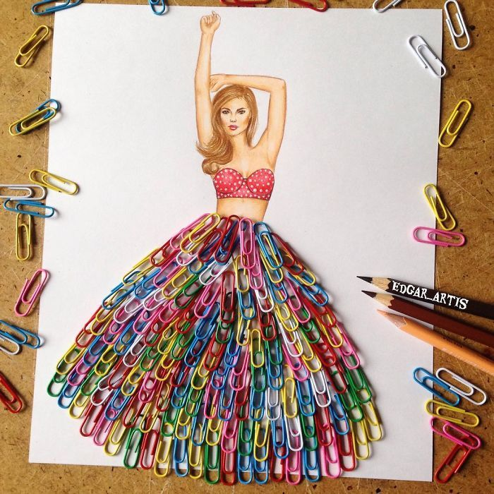 a17619d4c25d Armenian Fashion Illustrator Creates Stunning Dresses From Everyday ...