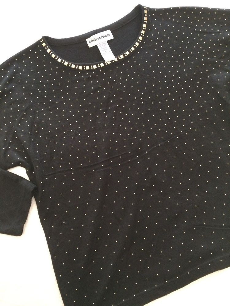 Proluxe Signature Button Detail Tunic Black Size UK 6 DH180 MM 17