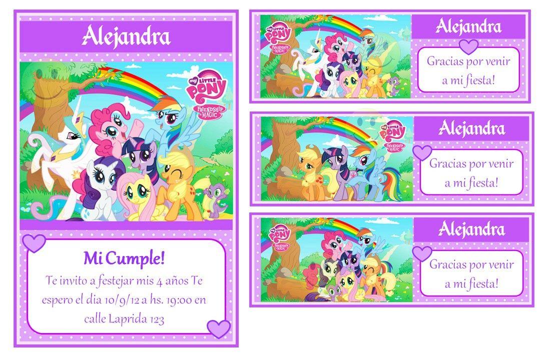 Tarjetas My Little Pony Invitaciones My Little Pony
