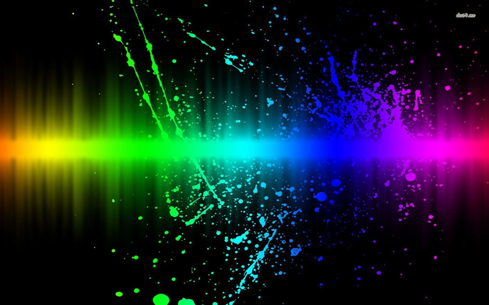 Rainbow Splash Hd Wallpaper With Images Rainbow Wallpaper