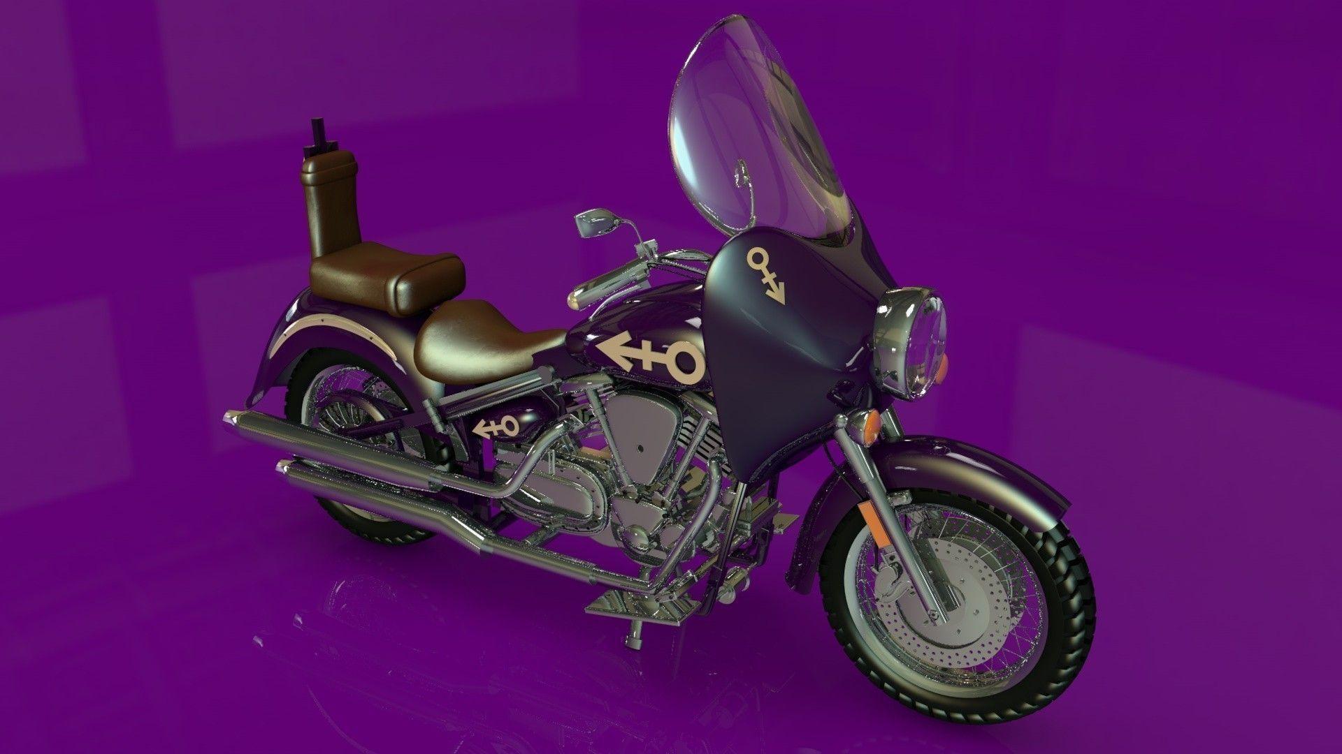 Prince Purple Rain Bike 3D Model  c4d - CGTrader com