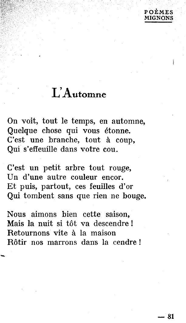 On Voit Tout Le Temps En Automne : temps, automne, Poèmes, Mignons, Enfants, Lucie, Delarue-Mardrus