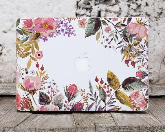 Floral Macbook Pro Sticker Laptop Skin Macbook Decals By