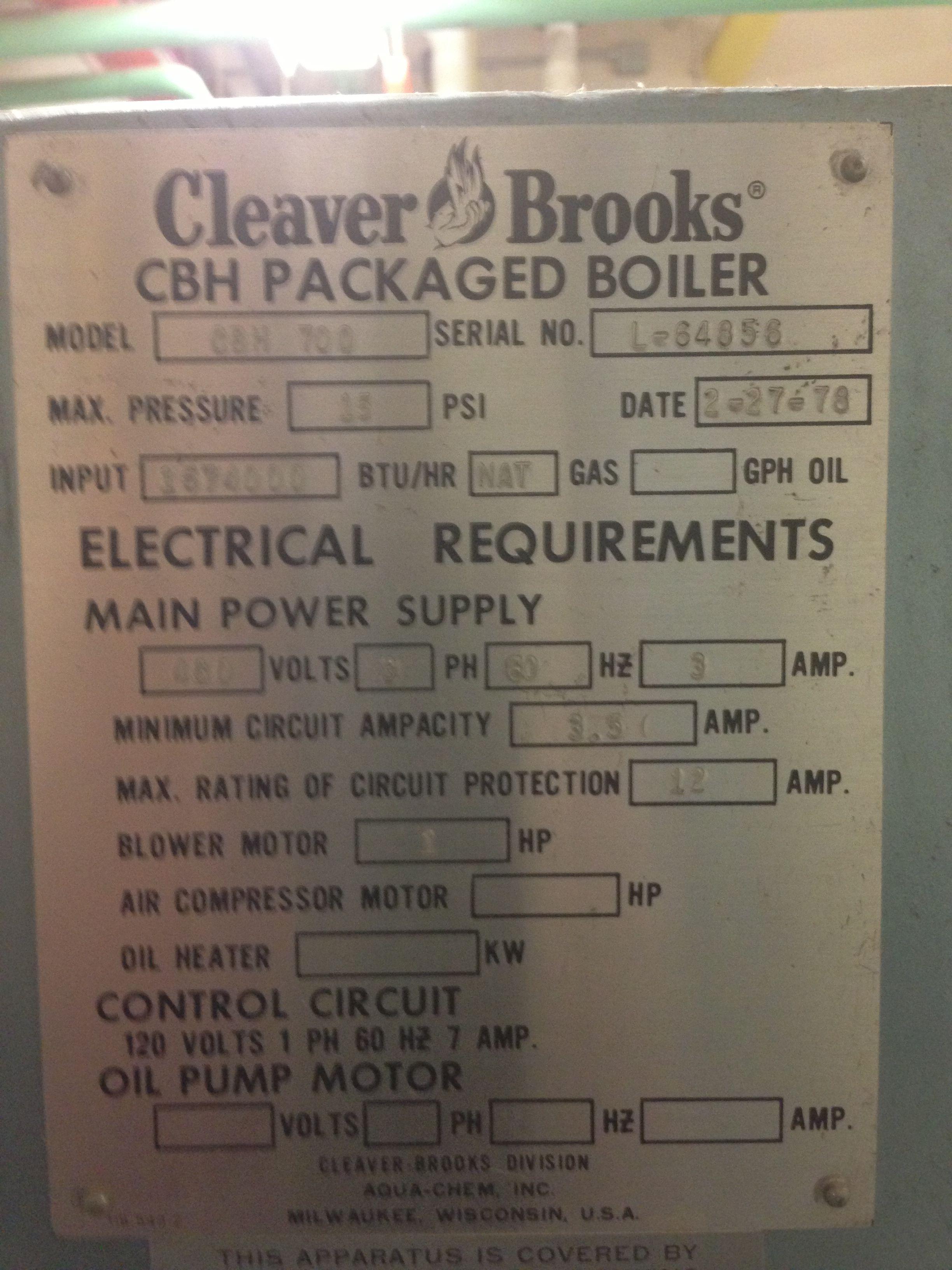 Cleaver. Brooks Air compressor motor, Engineering