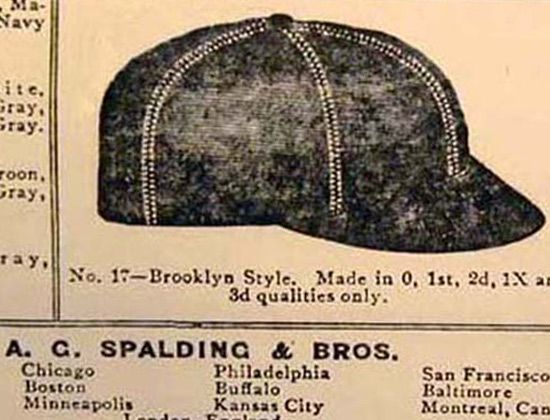 Short-Brim-Baseball-Cap-Spalding-Brooklyn-Style-fitted-baseball-cap-hat 1 e4c19714c5e