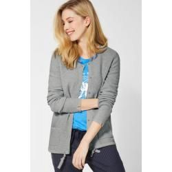 Cecil - Basic Strickjacke in Mineral Grey Melange Cecilcecil #datenightoutfit