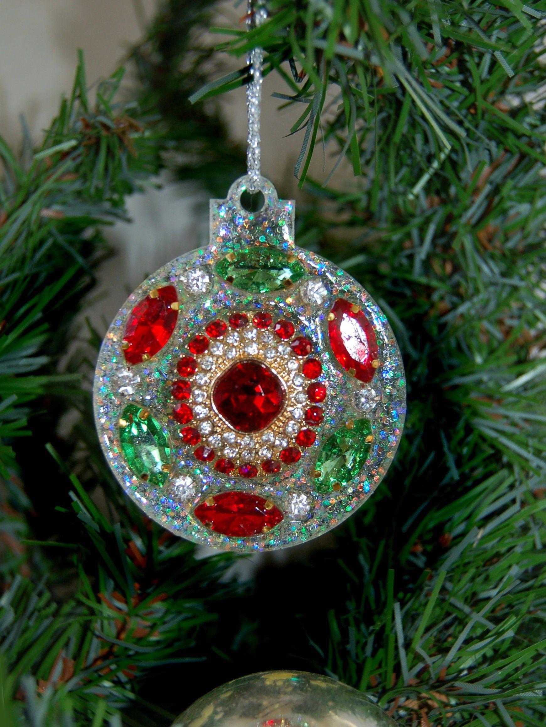 Vintage Jeweled Christmas Ornament Vintage Jewelry Vintage