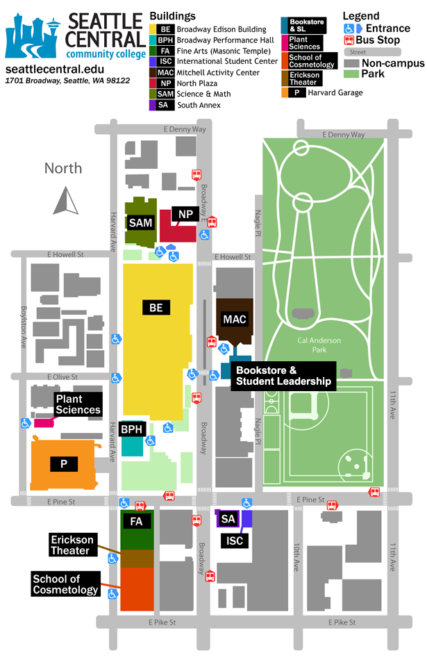 Seattle Central Campus Map Ar Map Inspiration Pinterest