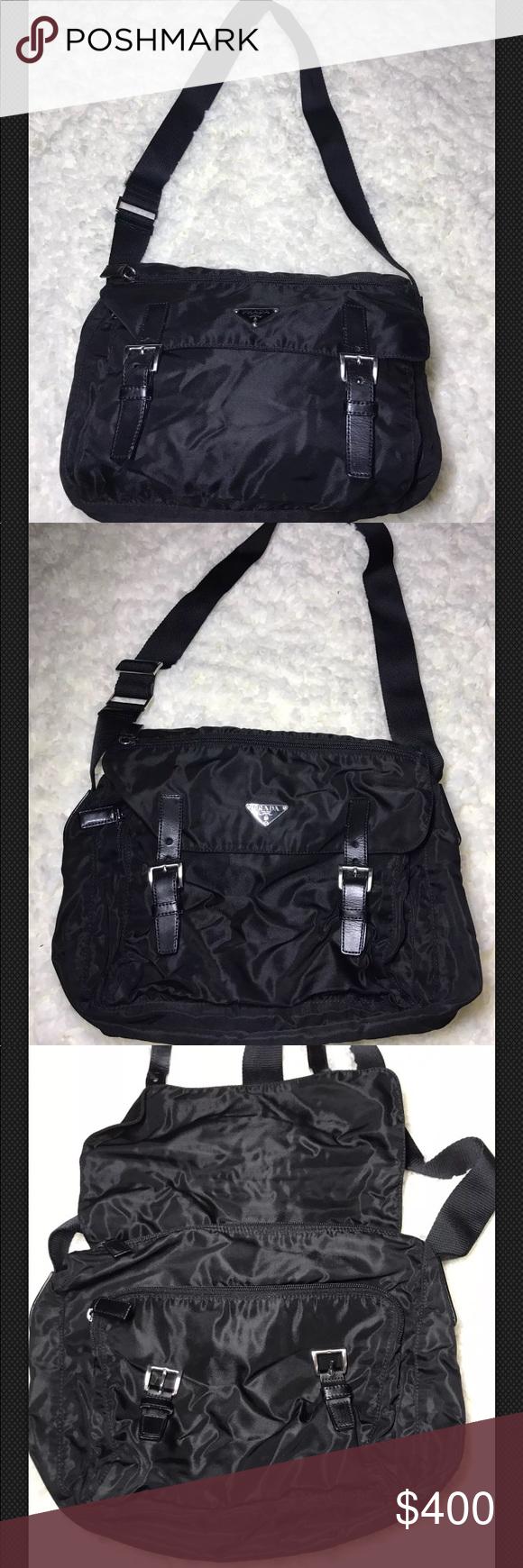 9fd2b32592cf NWT Prada Messenger black nylon Bag New with tags has original cards for authenticity  black nylon messenger definitely on trend Prada Bags Crossbody Bags