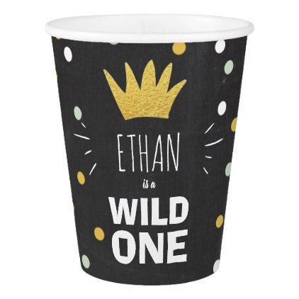 Wild one paper cup wild one crown gold confetti giftidea gift wild one paper cup wild one crown gold confetti giftidea gift present idea one first negle Choice Image