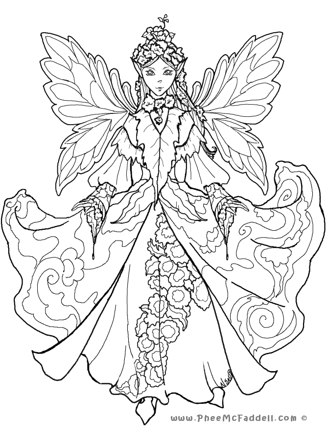 image regarding Free Printable Coloring Pages for Adults Fairies named Court docket Fairy 2  Elements in the direction of Colour