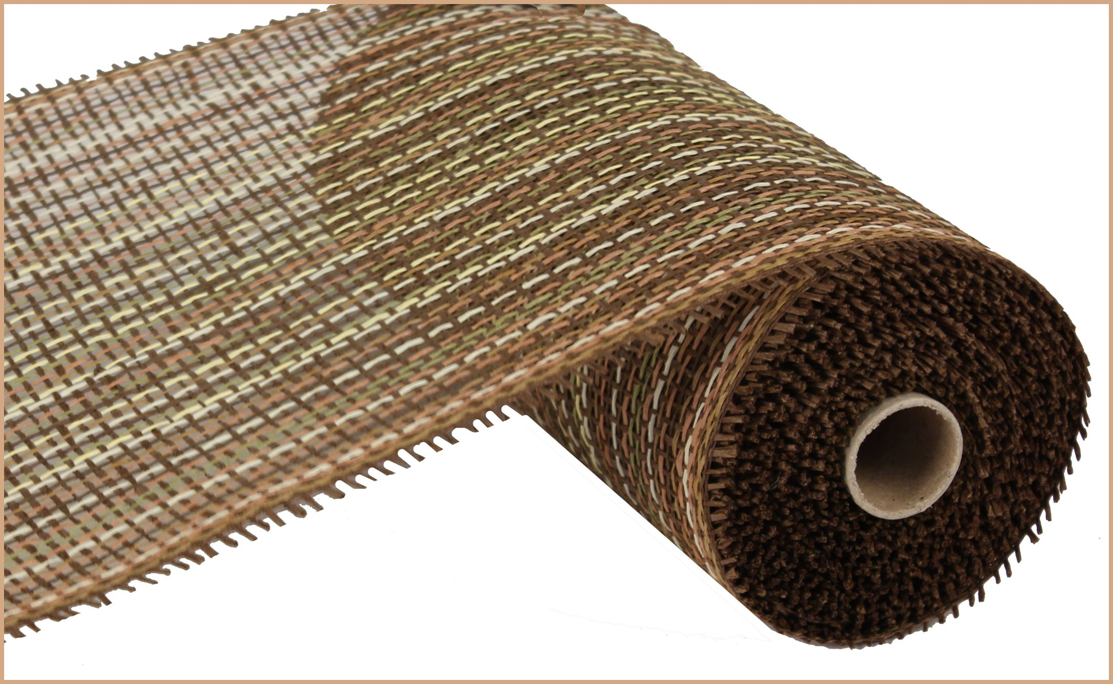 """NEW 2013 - 10"""" X 10 YD WOVEN PAPER MESH - MULTI BROWN #paper #mesh #brown #10inch"""