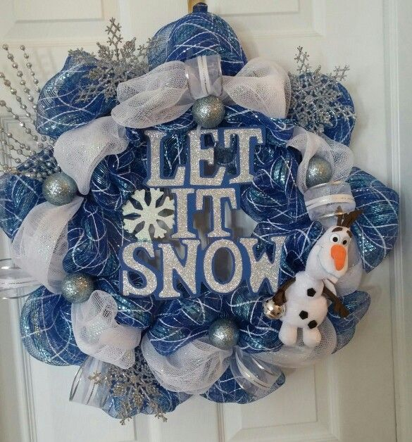 Olaf let it snow navy