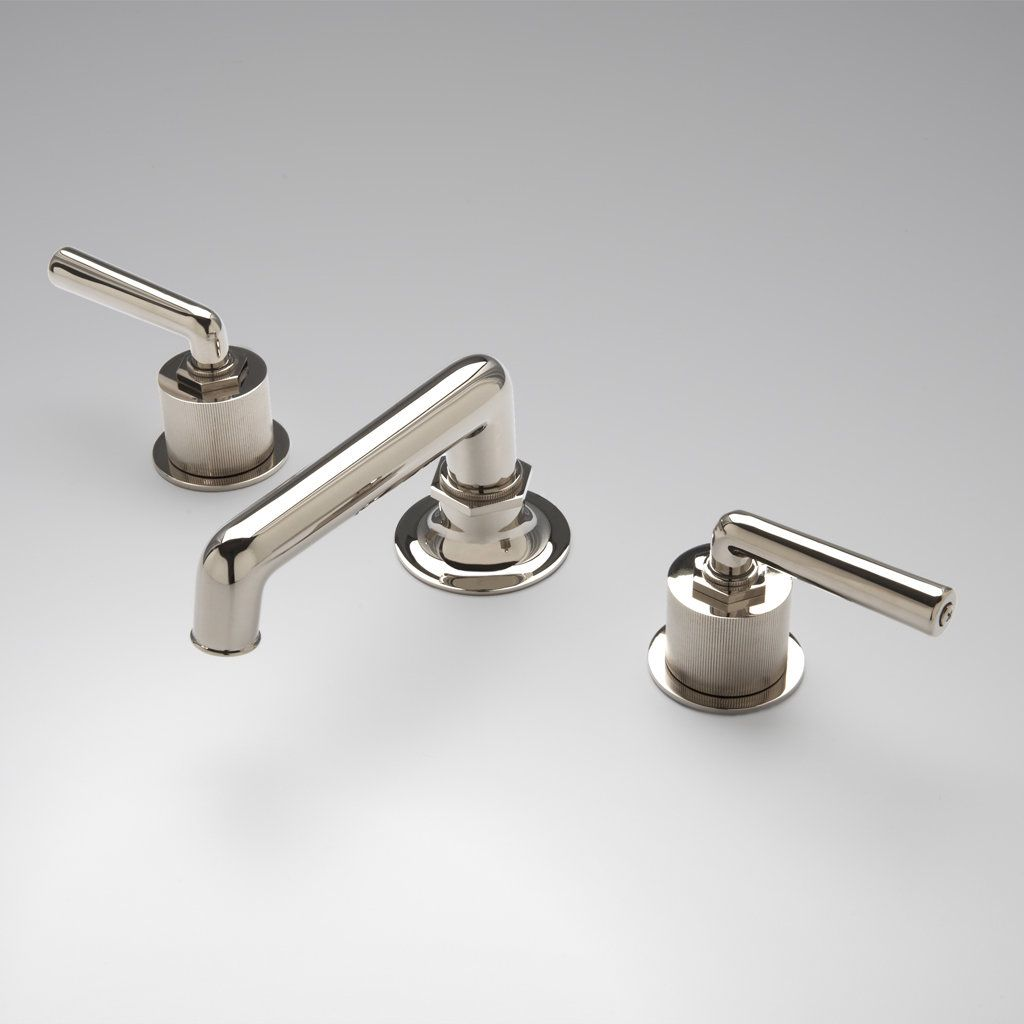 Henry Low Profile Three Hole Deck Mounted Lavatory Faucet with Coin ...