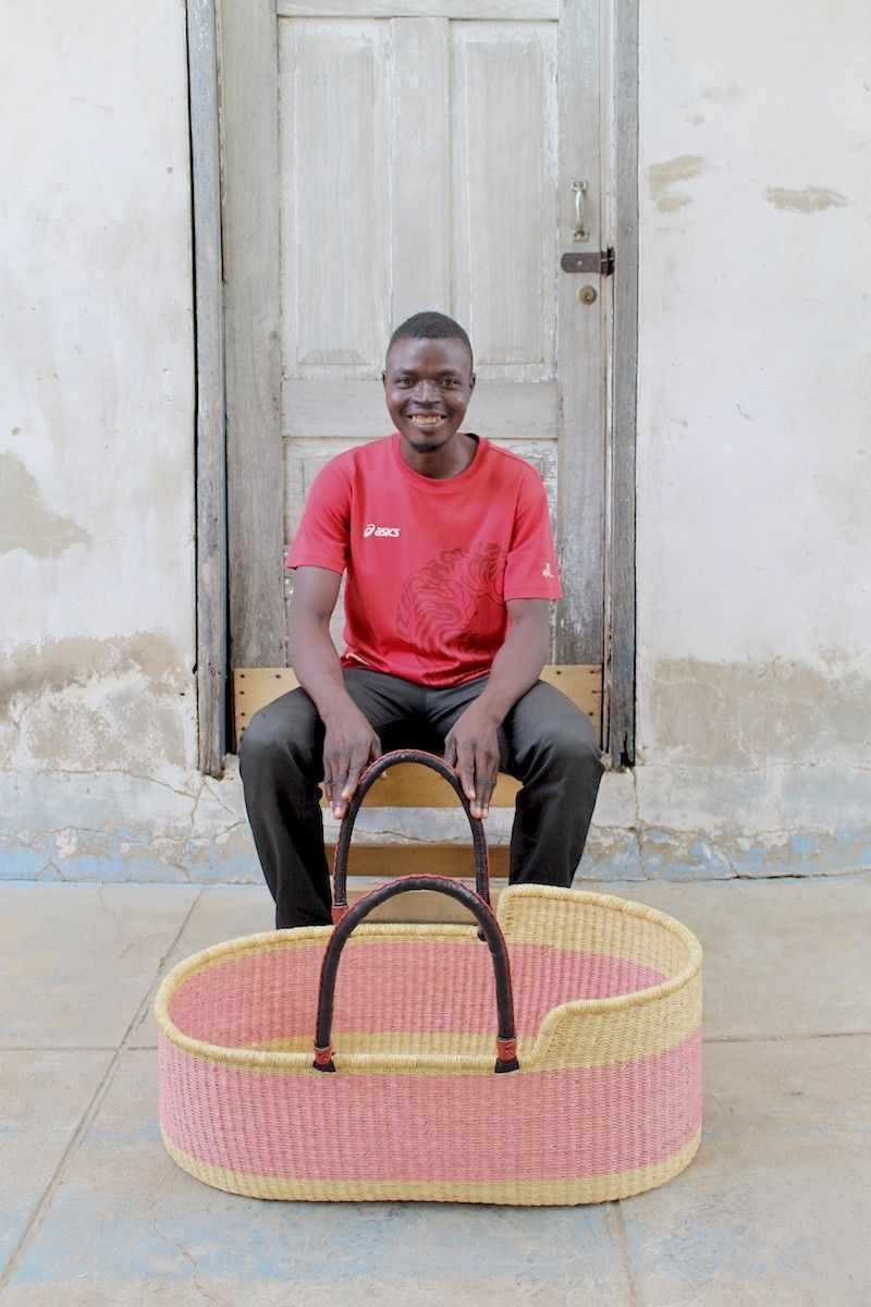 Honest crib for sale - Baby Moses Handwoven Basket Weaver David Atiabillah Specs W 31 H 11 5
