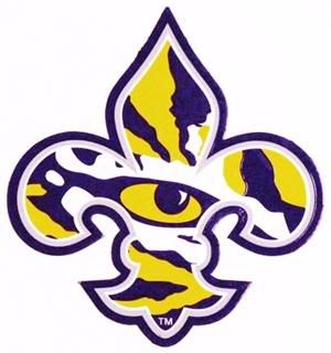 lsu tiger paw logo picfly html clipart best clipart best rh pinterest com New LSU Logo New LSU Logo