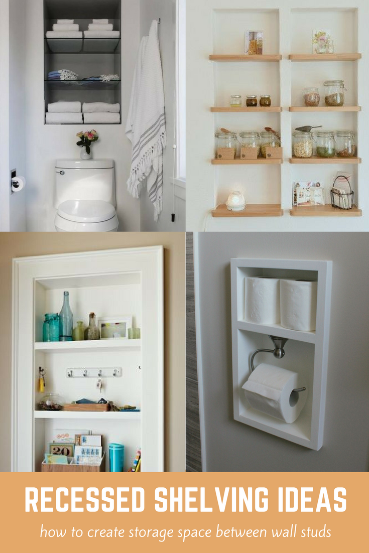 Time For Recess How To Create Shelf Space Between Studs Small Bathroom Decor Shelves Bathroom Decor