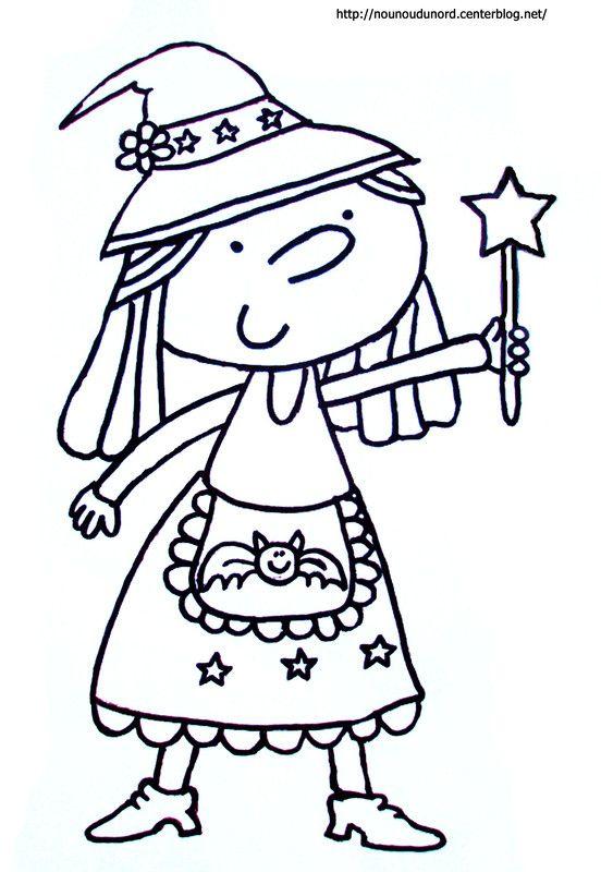 Coloriage Mandala Sorciere.Coloriage Sorciere Pour Halloween Sorcieres Pinterest