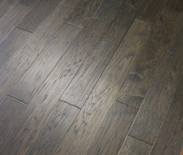 Hickory Grey Smoke 3 8 X 5 Hand Scraped Engineered Hardwood Flooring Weshipfloors Wood Floors Wide Plank Flooring Grey Hardwood Floors